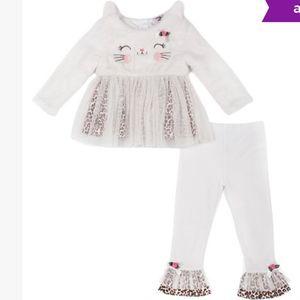 Little Lass Baby Faux Fur Newborn Two-Piece Set